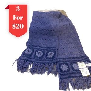 April Cornell Chenille Crochet Scarf With Fringe
